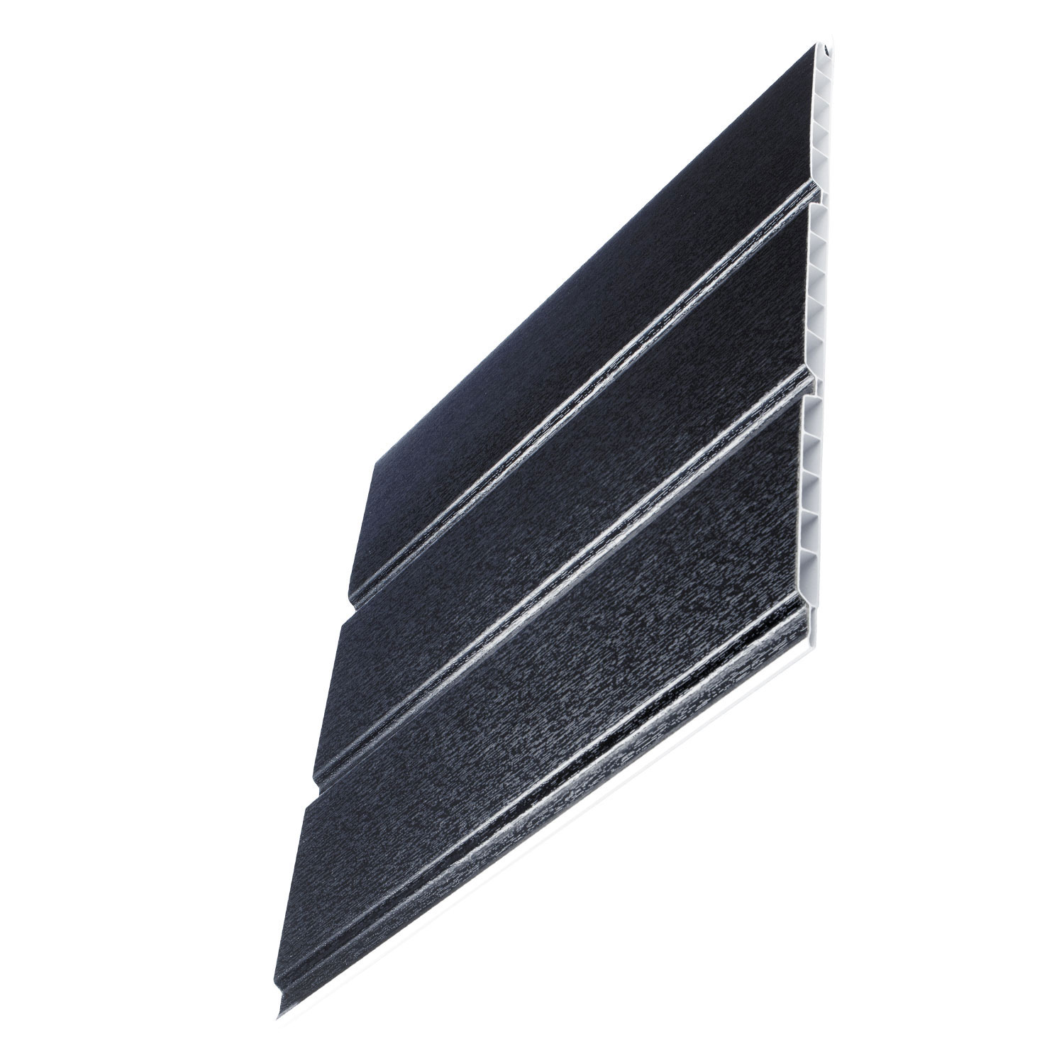 Anthracite Grey Woodgrain Hollow Soffit Boards